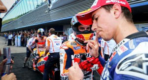 Marquez has said he wouldn't have a problem with Lorenzo should he join Honda in 2015.