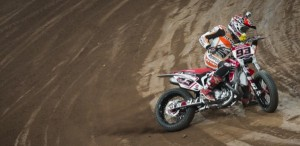 Marquez' loose style was suited to the dirt track in Barcelona.
