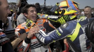 Valentino Rossi has tipped Marc Marquez to win the 2014 MotoGP title.