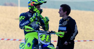Valentino Rossi admitted to hospital after training crash