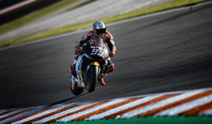 Marquez and Pedrosa end post race Valencia test on top