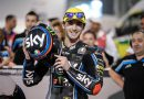 Bagnaia holds on for victory in Qatar