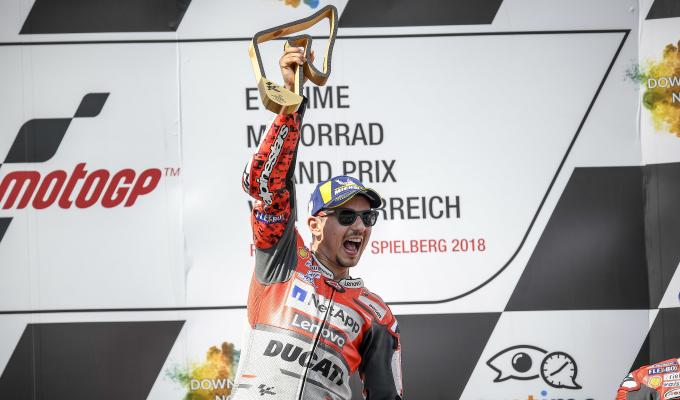 Lorenzo beats Marquez in Austrian battle
